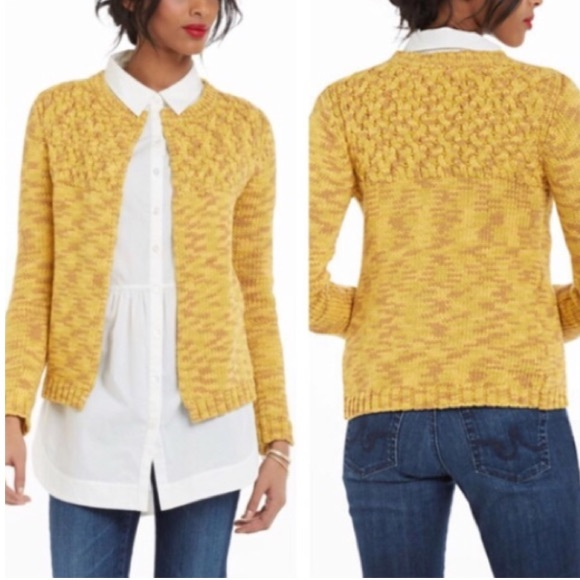 Anthropologie Sweaters Sparrow Anthro Mustard Yellow Cardigan